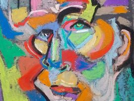 FACE MOOD 2 Pastel  14″ X 16″ 7-22-16