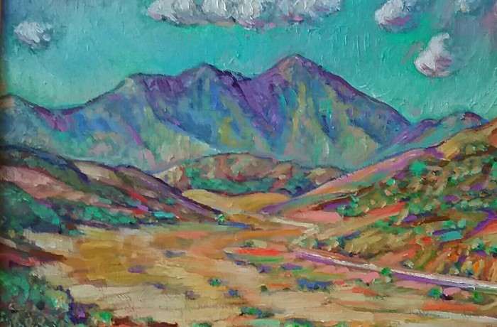 ROAD TO SADDLEBACK oil 15″ x 20″ 11-11-15
