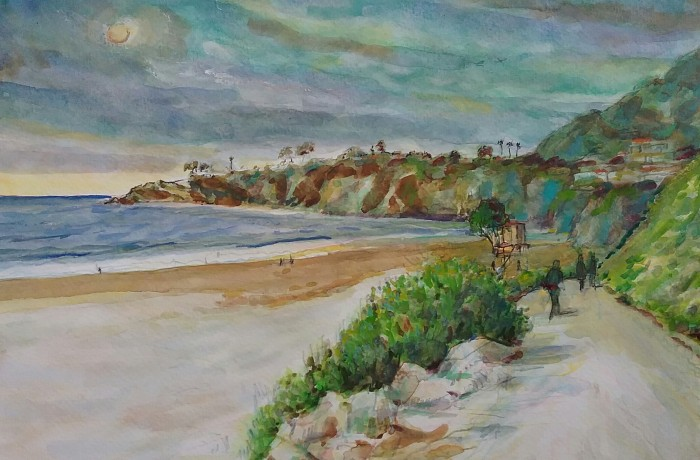 SALT CREEK Ca.  water color 11″ x 16″ 5-19-16