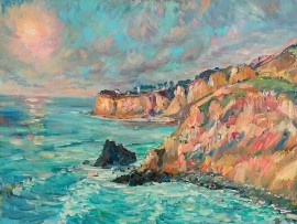 POINT SAN VICENTE  Palos Verdes, Ca.  oil 24″ x 30″  1-14-16