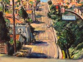 SELVA ROAD  DANA POINT CA.   WATERCOLOR  12″ X 16″  1-22-2021   SOLD!