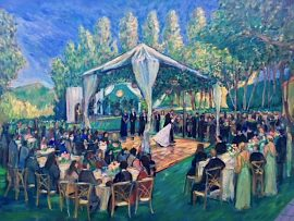 O'Shea Wedding Reception (studio) Shady Canyon Golf Club  Irvine Ca.   oil  30″ x 40″   6-16-19
