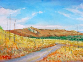 San Juan Capistrano Valley  water color 11″ x 15″ 5-4-15