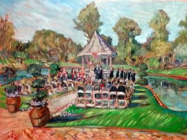 The Adamson Stone Wedding  Grand Traditions Fallbrook Ca oil 30″ x 40″ 3-19-16