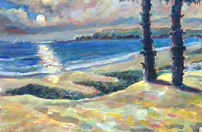 SUNSET  CAPO BEACH  Watercolor 11″ x 15″ 10-20-16