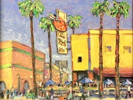 CAFE TU TU TANGO    Outlets of Orange Ca.   oil    8″ x 10″ 9-17-18