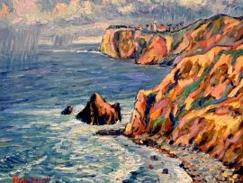 RAIN OFF TERRANEA RESORT   RANCHO PALOS VERDES  OIL   16″ X 18″  1-1-24-19