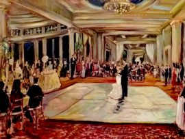 The Carter Wedding Sherwood Country Club  Thousand Oaks Ca. oil 30″ x 40″ 9-10-16