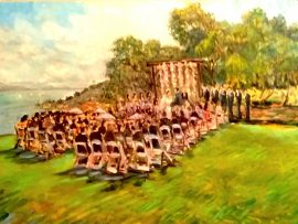 The Tsujimoto Wedding   Catalina View Gardens  Rancho Palos Verdes Ca.   30″ x 40″  9-3-16
