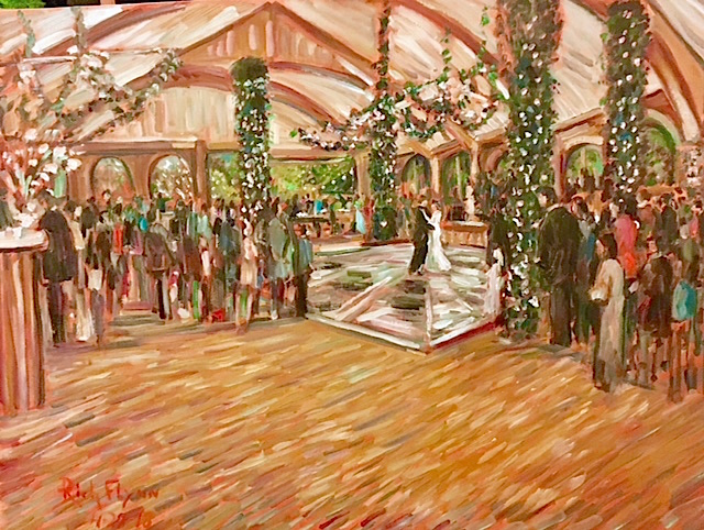 THE ANDERSON STRICKLAND WEDDING  TUSCALOOSA ALABAMA   OIL  36″ X 48″  4-28-18