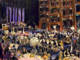THE WOLFE WEDDING  Cerritos Center for the Performing Arts Cerritos Ca.  oil 30″ x 40″  8-29-15