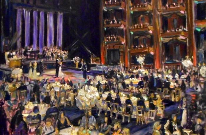 THE WOLFE WEDDING  Cerritos Center for the Performing Arts Cerritos Ca.  oil 30″ x 40″  8-29-15