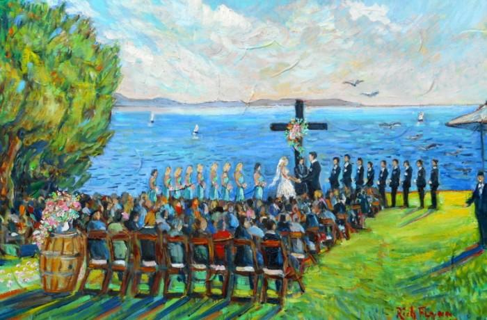 GILMORE KLEIN WEDDING (studio) 16″ x 20″ oil