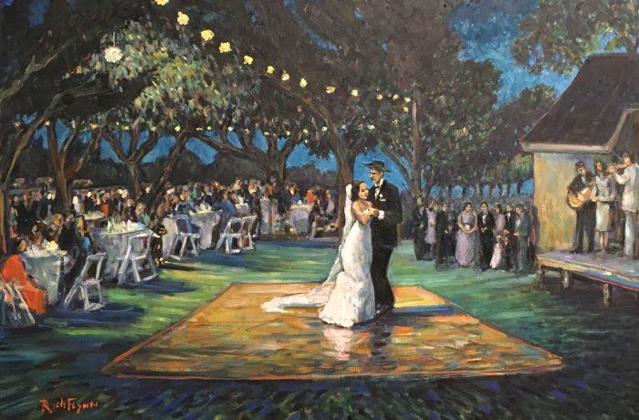 THE CAMACHO WEDDING   Sacramento Ca.   LIVE/STUDIO  oil  30″ x 40″  11-5-17