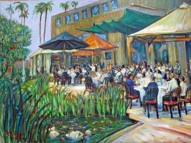 Lucian's Bar Mitzvah LL Moro Restaurant Los Angeles Ca.  oil  30″ x 40″