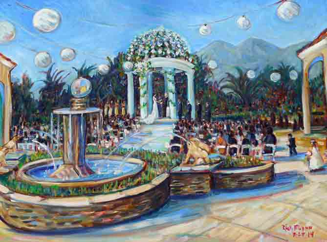 Nguyen Wedding Ceremony  Hilton, San Gabriel Ca. oil 30″ x 40″