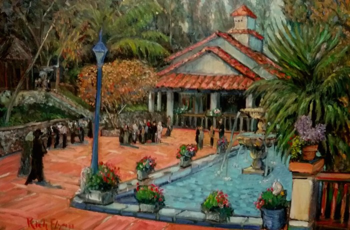 "LOCKLEAR LAW OFFICE END OF YEAR PARTY  Rancho Los Lomas  Silverado, Ca. oil 30″ x 40″ ( started ""live"", finished in studio)   1-3-16"