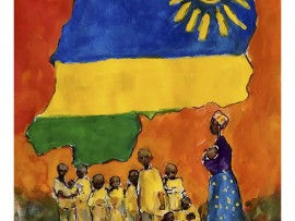 Jessie's Place Fundraiser for the FORGOTTEN CHILDREN of RWANDA   water color  7″ x 19″ 3-21-16