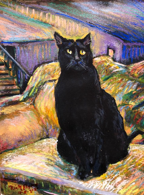 SIR THE CAT     Commissioned    Watercolor / Pastels   9″ x 12″   4-16-2020
