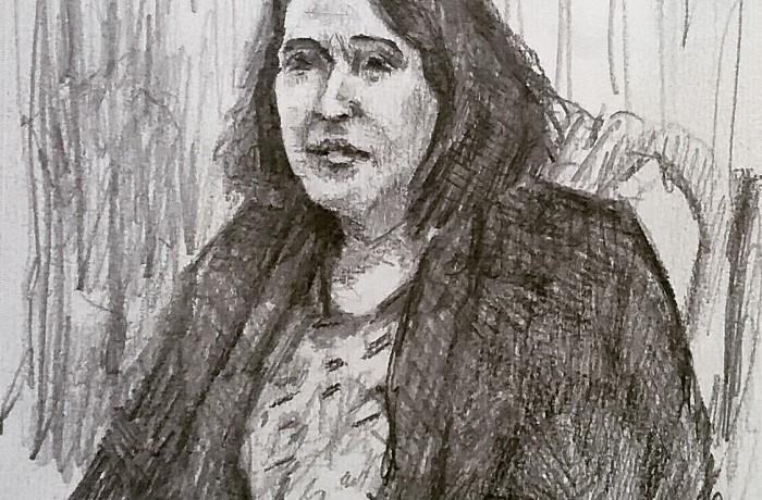 Suzanne Wyman Flynn  Psychic Arts Class  pencil  11″ x 16″ 6-16-16