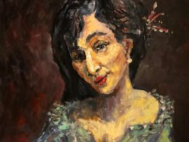 THE LADY      oil    16″ X 20″  6-1-2021