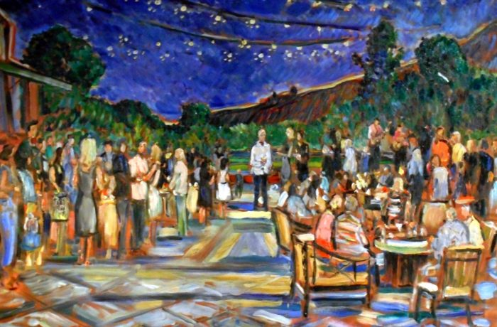 AL'S 70TH Birthday Party  El Niguel Country Club  oil  30″ x 40″