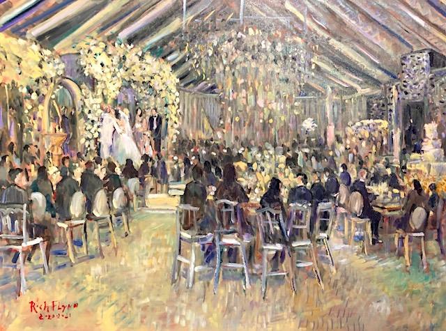 THE BEROUKHIM WEDDING  MIDDLE RANCH  SYLMAR CA.    OIL    30″ X 40″   2-20-2021