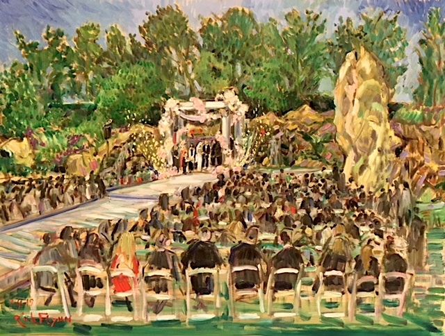 The Bitan Wedding   Four Seasons Hotel   Westlake Village ca.    oil   30″ x 40″  7-4-19