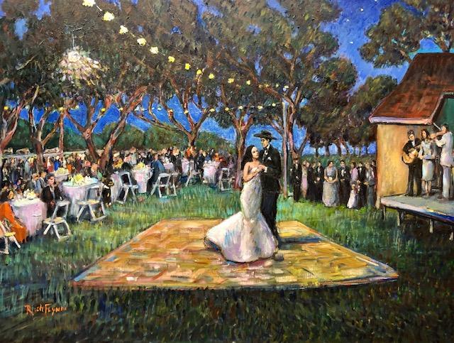 THE CAMACHO WEDDING  STUDIO   SACRAMENTO CA,  OIL   30″ X 40″   2-13-2021