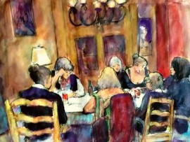 SUZANNE WYMAN'S THE PSYCHIC ARTS CLASS  water color 11″x 15″ 11-28-15