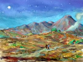 THE FINAL GOODNIGHT  watercolor  11″x 16″  12-6-16