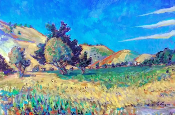 Hamilton Oaks Park  water color  11″ x 16″ 4-24-16