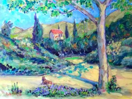 HOUSE IN SAN JUAN CAPISTRANO  water color  16″ x 20″  3-23-16