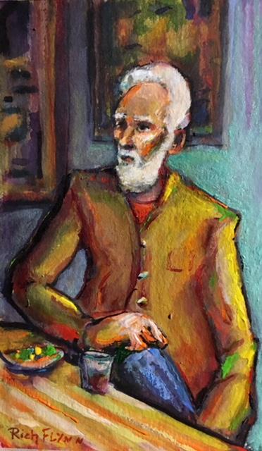 JACK HARRIS RUTHERFORD  (my art teacher)  Watercolor  6′ x 9″ 7-17-19