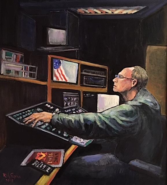 Mr. John Harnack  Retired Media Teacher  Mission Viejo high School   oil  37″ x 35″  7-7-19