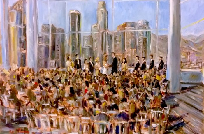 The Nguyen Wedding   USC CENTER Downtown LosAngeles, Ca. oil  30″ x 40″ 10-8-16