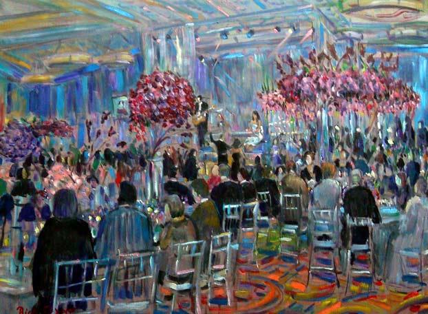 Daniella's Bat Mitzvah  Marriott Marina Del Rey Ca. oil 30″ x 40″