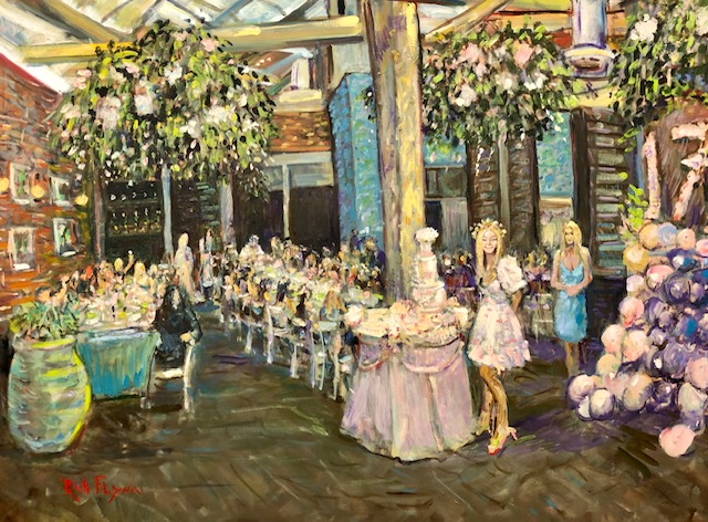 Presley's  Sweet Seventeen Birthday Party   Catch LA  West Hollywood ca.  oil  30″ x 40″ 6-15-2021