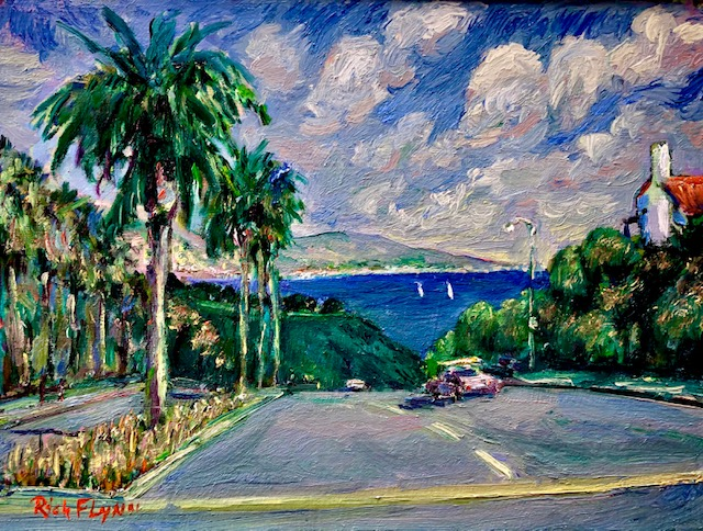 Road to Harbor  Golden Lantern Dana Point Ca.   oil  12″ x 16″  7-18-2020 SOLD