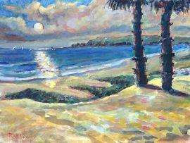 SUNSET  CAPO BEACH  Watercolor 11″ x 15″ 10-20-16