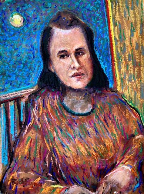 Suzanne Wyman Flynn   Watercolor / Pastels   12″ x 9″  1-10-2020