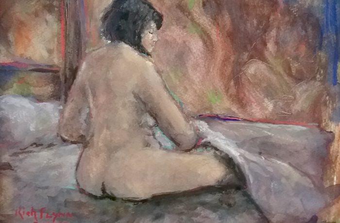 MY  VALENTINE  Watercolor  11″ x 14″ 2-14-17