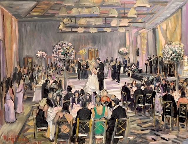 The Long Larkin Wedding Reception Live Painting Terranea Resort Palos Verdes Ca Oil 30 X 40 11 10 18