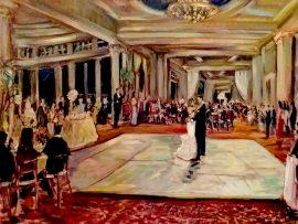 The Carter Wedding Sherwood Country Club  Thousand Oaks Ca. oil 30″ x 40″ 9-10-16