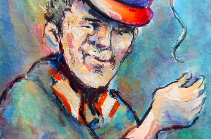 In Loving memory of THOMAS J. HIGGINS (UNCLE TOMMY JO)  1941-2015 water color 5″ x 7″ 5-19-15