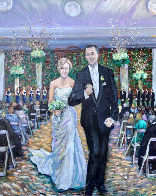 THE WILLIAMS CEREMONY  ANNIVERSARY GIFT  FROM PHOTOS   OIL  24″ X 30″ 6-30-2020